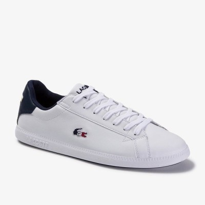 LACOSTE [ラコステ][メンズ] GRADUATE TRI 1 WHITE/NAVY/RED SMA0027-407