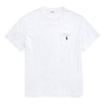 ラルフローレン メンズ Tシャツ Polo Ralph Lauren Classic Fit Pocket T-Shirt White 半袖