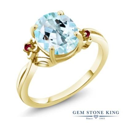 天然 スカイブルートパーズ 指輪 レディース リング イエローゴールド 加工 天然石 11月 誕生石 ブランド