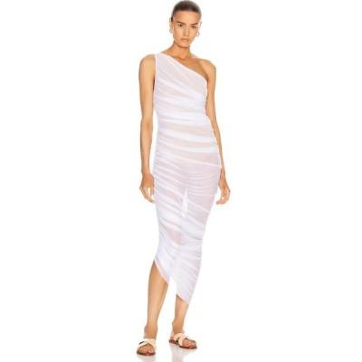 ノーマ カマリ Norma Kamali レディース パーティードレス ワンピース・ドレス for fwrd diana gown White/Nude Mesh