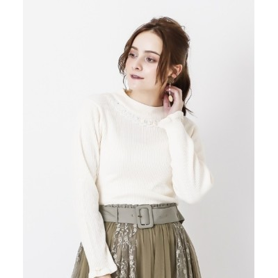 axes femme / バラボトルネックリブPO WOMEN トップス > Tシャツ/カットソー