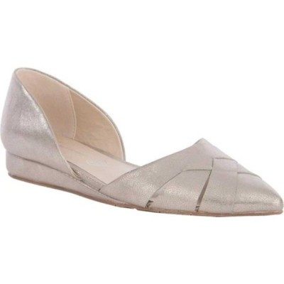BCフットウェア スニーカー シューズ レディース Focal Point D'Orsay Flat (Women's) Pewter Distressed Metallic Vegan Leather