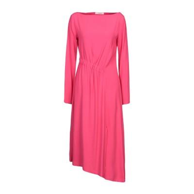ジャッカ JUCCA 7分丈ワンピース・ドレス フューシャ 38 レーヨン 99% / ポリウレタン 1% 7分丈ワンピース・ドレス