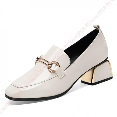 パンプス エナメル レディース 痛くない 歩きやすい パンプス 脱げない 春秋 らくちん 幅広  コンビシューズ 美脚 ゆったり 靴 ファッション セレモニー