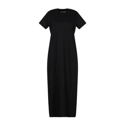 パコ ラバンヌ PACO RABANNE 7分丈ワンピース・ドレス ブラック M コットン 100% 7分丈ワンピース・ドレス