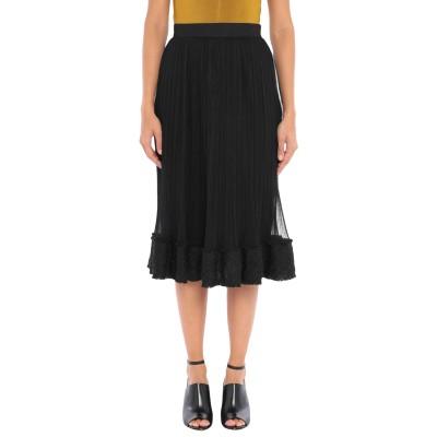 EDWARD ACHOUR 7分丈スカート ブラック 40 ポリエステル 100% 7分丈スカート