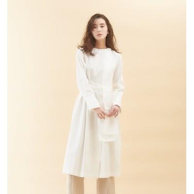 【カリテ/qualite】 スカーフシャツワンピース