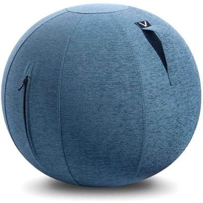 山崎実業(Yamazaki) シーティングボール ルーノ シェニール ブルー 約65×65×65cm Vivora LUNO CHENILLE ルーノ シェニール 800