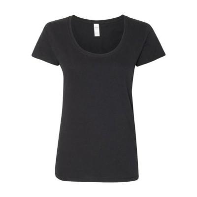 レディース 衣類 トップス Gildan - Softstyle Women's Deep Scoop Neck T-Shirt - 64550L Tシャツ
