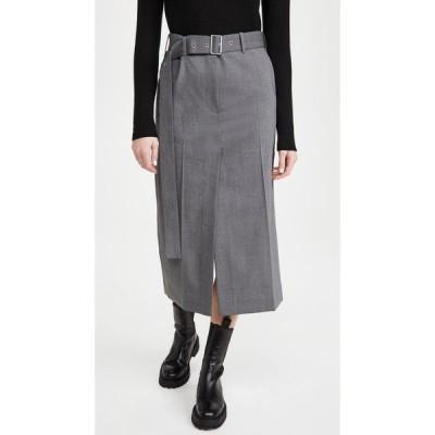 ヘルムート ラング Helmut Lang レディース ひざ丈スカート スカート Trouser Skirt Light Grey Melange