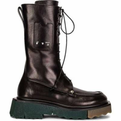 オフホワイト OFF-WHITE レディース ブーツ コンバットブーツ シューズ・靴 Sponge Pocket Combat Boot Black