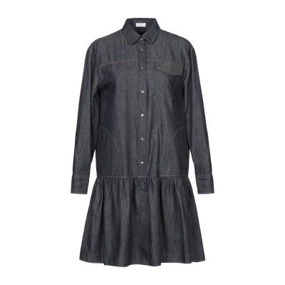 ブルネロ クチネリ BRUNELLO CUCINELLI ミニワンピース&ドレス ダークブルー XS コットン 100% ミニワンピース&ドレス