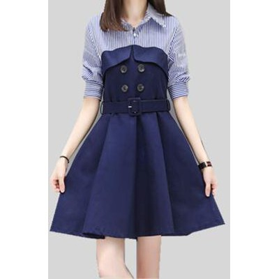 [55555SHOP]ファッションロマンチックワンピ☆ブルー/