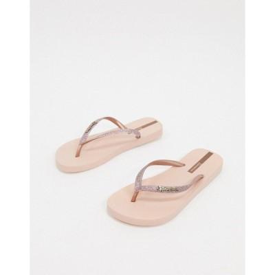 イパネマ レディース サンダル シューズ Ipanema glitter flip flop sandal in pink Rose