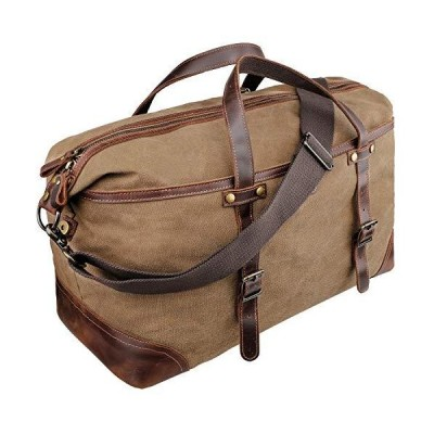 emissary Duffel Bag for Men | Mens Carry On Duffel Bag | Canvas and Leather Overnight Bag | Large Canvas Duffel Bag Men【並行輸入品】