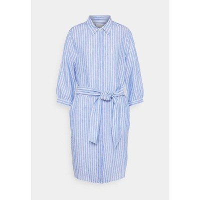 レディース ファッション MAXI 3/4 ARM - Shirt dress - blau