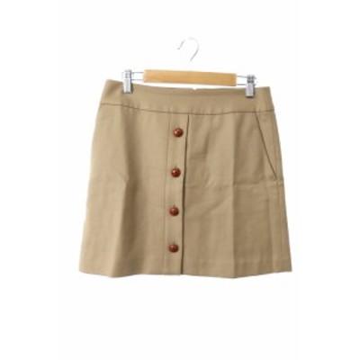 【中古】イエナ IENA スカート ミニ 台形 ボタン 総柄 ウール 36 茶 ブラウン /M2N23 レディース