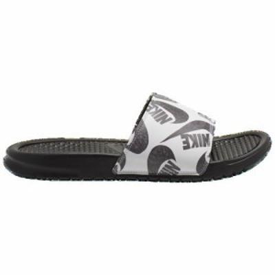 (取寄)ナイキ メンズ ベナッシ JDI スライド Nike Men's Benassi JDI Slide Black Black White 送料無料