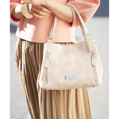 MK MICHEL KLEIN BAG / エムケーミッシェルクランバッグ 【2WAY】スクエアデザインバッグ