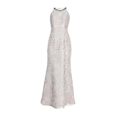 ANTONIO D'ERRICO ロングワンピース&ドレス ライトグレー 46 ポリエステル 89% / シルク 11% ロングワンピース&ドレス