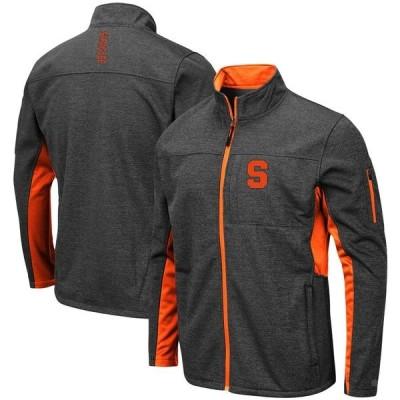 コロシアム ジャケット&ブルゾン アウター メンズ Syracuse Orange Colosseum Bumblebee Full-Zip Jacket Heathered Charcoal