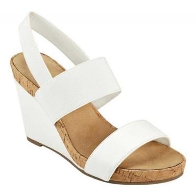 エアロソールズ Aerosoles レディース サンダル・ミュール ウェッジソール シューズ・靴 Putnam Slingback Wedge Sandal White Fenice Faux Nappa/Elastic