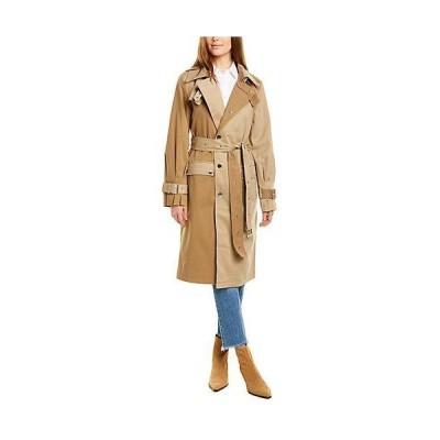 レディース ファッション  Avec Les Filles Two-Tone Trench Coat