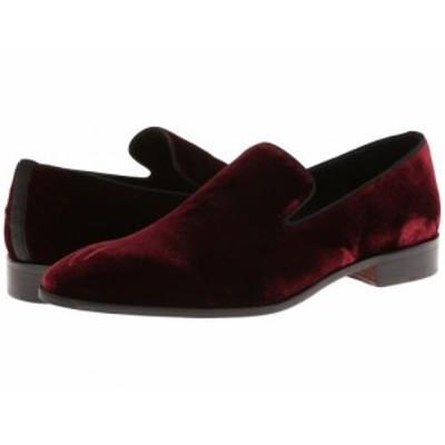 Massimo Matteo マッシオマッテオ メンズ 男性用 シューズ 靴 ローファー Velvet Slip-On Burgundy【送料無料】