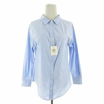 【中古】未使用品 ルスーク Le souk シャツ 長袖 36 青 ブルー /AAM2 レディース