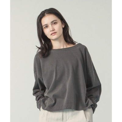 tシャツ Tシャツ ピグメントダイツーウェイプルオーバー