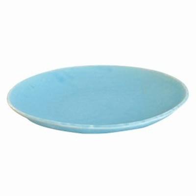 美濃焼 楕円パスタ皿 ターコイズブルー K14223