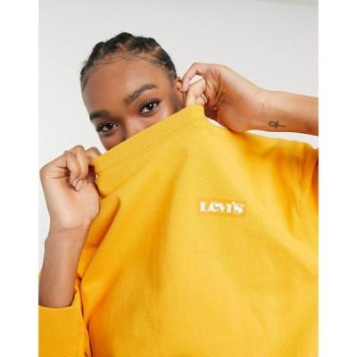 リーバイス Levi's レディース スウェット・トレーナー トップス Standard Crew Neck Sweatshirt In Orange