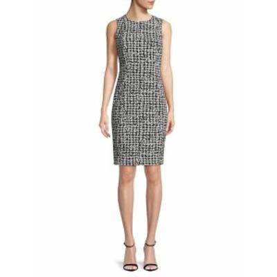 カルバンクライン レディース ワンピース Houndstooth-Print Sheath Dress