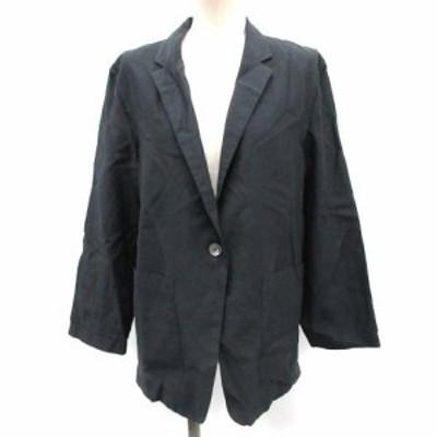 【中古】マーガレットハウエル MARGARET HOWELL 2 18年 テーラードジャケット シルク混 チャコールグレー レディース