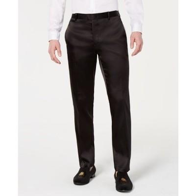 アイエヌシーインターナショナルコンセプト カジュアルパンツ ボトムス メンズ INC Men's Slim-Fit Tuxedo Pants, Created for Macy's Deep Black