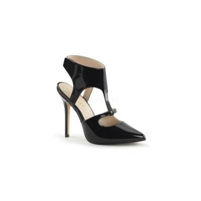 """サンダル パンプス Pleaser プリーザーAMUSE-19 5"""" Heel (amu19-b) ポンテッドトゥ  レディース   靴 お取り寄せ商品"""
