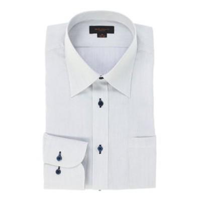 形態安定スリムフィット レギュラーカラー長袖ビジネスドレスシャツ