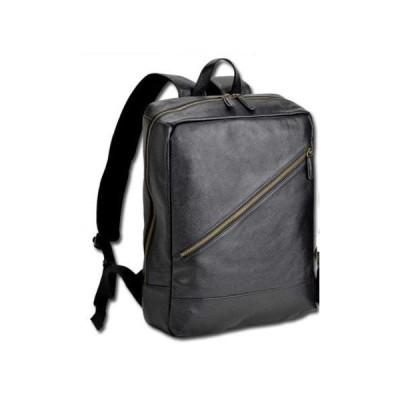 リュック レザーバッグ 通学 メンズ レディース 牛革 本革 通勤 ビジネス 革 B4 YKKファスナー 横幅30cm 黒 チョコ  (黒) 平野鞄