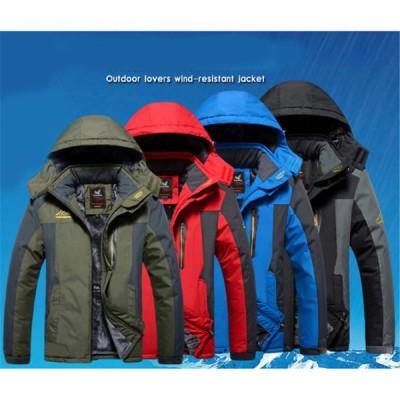 秋冬ジャケット メンズ マウンテンパーカー ダウン  防風 山登りウエア スキーウェア ウォーキング ハイキング あったか
