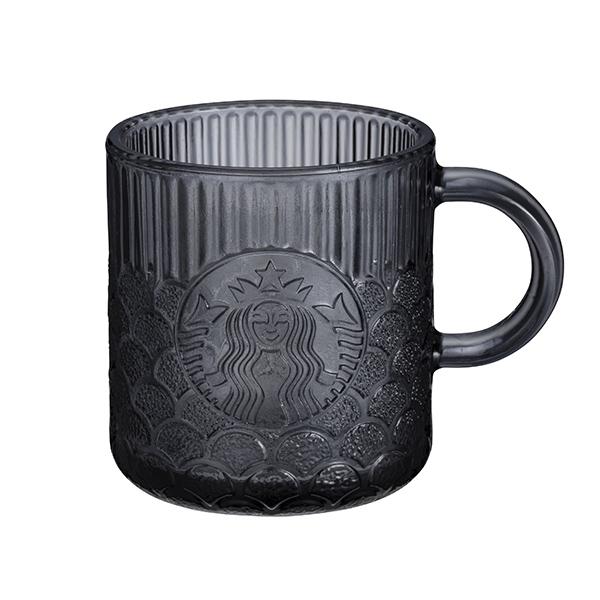 星巴克Demi灰黑女神鱗片玻璃杯