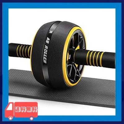 AUOPLUS 腹筋ローラー 膝マット付き アブホイール 腹筋 トレーニング器具 筋トレグッズ エクササイズローラー 体