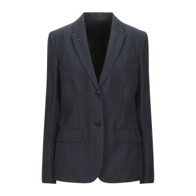 アニオナ AGNONA テーラードジャケット ダークブルー 46 ウール 70% / リネン 30% テーラードジャケット