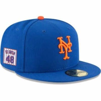 New Era ニュー エラ スポーツ用品  Jacob deGrom New York Mets New Era Player Patch 59FIFTY Fitted Hat  Royal