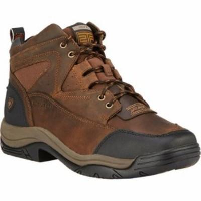 アリアト レインシューズ・長靴 Terrain Wide Square Steel Toe Boot Distressed Brown Full Grain Leather