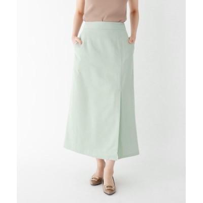 SOUP(スープ) 【大きいサイズあり・13号】ラップ風マットサテンスカート