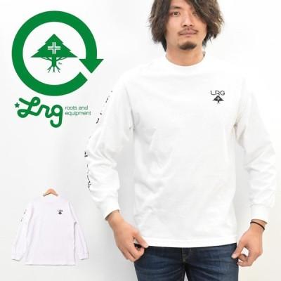 LRG エルアールジー ロンT ロングTシャツ 長袖 左胸ツリーロゴ 右アームテキスト 長袖Tシャツ 袖プリント メンズ J191098