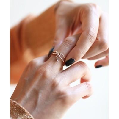 JAM HOME MADE / 安全ピン ダイヤモンド リング 10金YG/ゴールド/指輪/アクセサリー/レディース WOMEN アクセサリー > リング