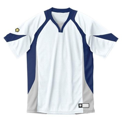 DESCENTE ヤキュウ ソフト セカンダリーシャツ DB-113 16SS ホワイト/ネイビ ウインドウェア(db113-wnv)