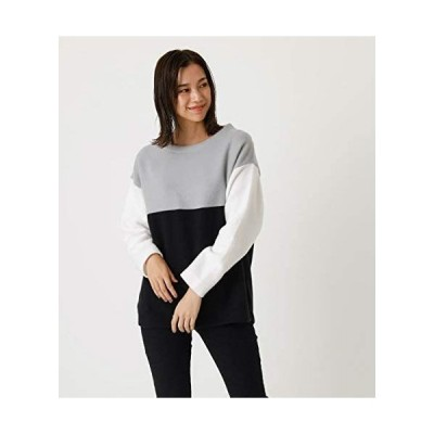 [アズールバイマウジー] tシャツ BI-COLOR PANEL TOP 250DSH80-020I (柄グレー M)