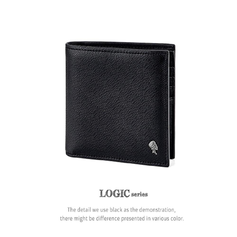 PORTER INTERNATIONAL LOGIC系列真皮短夾(黑色) -廠商直送